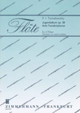 Jugendalbum Op. 39 - 4 Flûtes TCHAIKOVSKY Partition laflutedepan