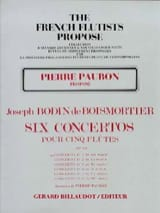 Concerto op. 15 n° 1 en sol majeur BOISMORTIER laflutedepan.com