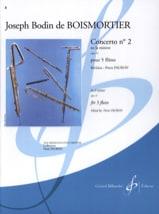 Concerto Op. 15 N° 2 en la Mineur BOISMORTIER laflutedepan.com