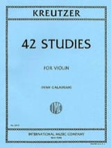 Rodolphe Kreutzer - 42 Studies - Sheet Music - di-arezzo.co.uk