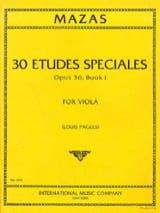 30 Etudes spéciales op. 36 - Book 1 – Viola (Pagels) - laflutedepan.com