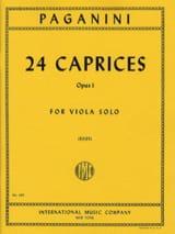 24 Caprices Op. 1 Niccolò Paganini Partition Alto - laflutedepan.com