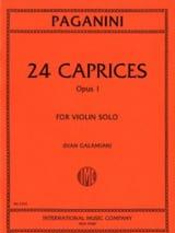 24 Caprices op. 1 (Galamian) - Niccolò Paganini - laflutedepan.com