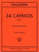 Niccolò Paganini - 24 Caprices op. 1 Galamian - Partition - di-arezzo.fr