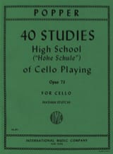 David Popper - 40 Studies – High school of cello playing op. 73 - Partition - di-arezzo.fr