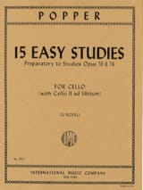David Popper - 15 Easy Studies - Partition - di-arezzo.fr