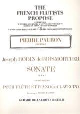 Sonate Op. 91 N° 3 en Sol Majeur BOISMORTIER laflutedepan.com