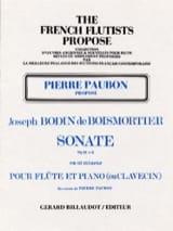 Joseph Bodin de Boismortier - Sonate op. 91 n° 6 – Flûte et piano (ou clavecin) - Partition - di-arezzo.fr