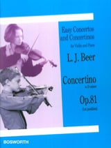 Leopold Josef Beer - Concertino in D minor op. 81 - Violin - Sheet Music - di-arezzo.co.uk