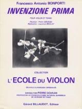 Francesco Antonio Bonporti - Invenzione Prima op. 10 n° 1 - Partition - di-arezzo.fr