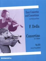 Concertino Op. 225 In A Minor Franz Drdla Partition laflutedepan