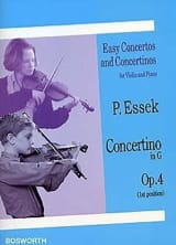 Concertino in G op. 4 Paul Essek Partition Violon - laflutedepan.com