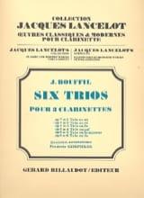 6 Trios - op. 7 n° 2 en ré Jacques-Jules Bouffil laflutedepan.com