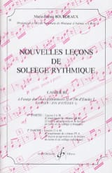BOURDEAUX - New lessons in rhythmic solfeggio Volume 3 - Sheet Music - di-arezzo.com