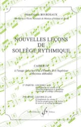 BOURDEAUX - New lessons in rhythmic solfeggio Volume 4 - Sheet Music - di-arezzo.com