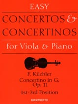 Ferdinand Küchler - Concertino en Sol Opus 11 - Alto - Partition - di-arezzo.ch