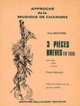3 Pièces brèves en trio Jean Bouvard Partition laflutedepan.com