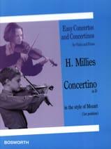 Hans Millies - Concertino en ré dans le style de Mozart - Partition - di-arezzo.fr