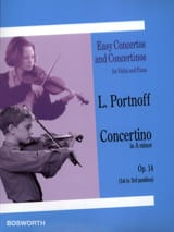 Concertino in A minor op. 14 Leo Portnoff Partition laflutedepan.com