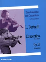 Concertino in E minor op. 13 Leo Portnoff Partition laflutedepan.com