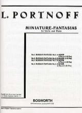 Leo Portnoff - Russian Fantasy N ° 2 in D Minor - Sheet Music - di-arezzo.com