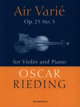Oskar Rieding - Varied Air Opus 23 N ° 3 - Sheet Music - di-arezzo.co.uk