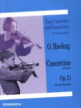 Oskar Rieding - Concertino op. 21 in A minor - Sheet Music - di-arezzo.co.uk
