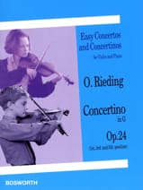 Oskar Rieding - Concertino op. 24 in G Major - Sheet Music - di-arezzo.co.uk