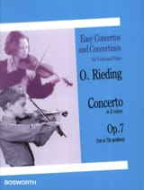 Concerto op. 7 in E minor Oskar Rieding Partition laflutedepan.com