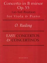 Oskar Rieding - Concerto op. 35 in B minor - Alto - Sheet Music - di-arezzo.co.uk