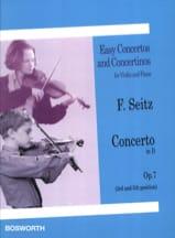 Friedrich Seitz - Concerto en Ré Opus 7 - Partition - di-arezzo.fr
