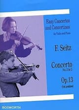 Friedrich Seitz - Solo Opus Concerto 13 - Sheet Music - di-arezzo.co.uk