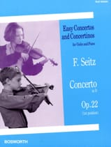 Friedrich Seitz - Concerto in Re Opus 22 - Sheet Music - di-arezzo.com