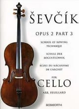 Otakar Sevcik - Studies Opus 2 / Part 3 - Cello - Sheet Music - di-arezzo.co.uk