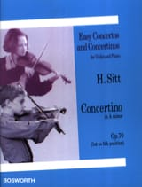 Concertino op. 70 in A minor Hans Sitt Partition laflutedepan.com
