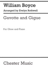 Gavotte and Gigue William Boyce Partition Hautbois - laflutedepan.com