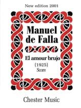 Manuel de Falla - El amor brujo 1925 - Score - Partition - di-arezzo.fr