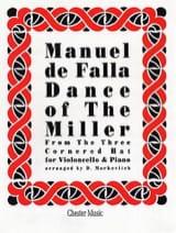 Danse du Meunier DE FALLA Partition Violoncelle - laflutedepan.com