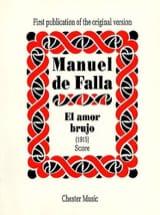 Manuel de Falla - El amor brujo 1915 - Score - Partition - di-arezzo.fr