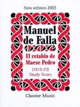Manuel de Falla - El retablo de Maese Pedro - Score - Partition - di-arezzo.fr