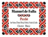 Psyché – Score Manuel de Falla Partition laflutedepan.com