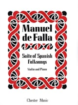 DE FALLA - Suite of Spanish Folksongs - Partition - di-arezzo.fr