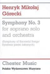Henryk Mikolaj Gorecki - Symphony n° 3 - Study Score - Partition - di-arezzo.fr
