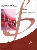 Cantilène Louis Cahuzac Partition Clarinette - laflutedepan.com