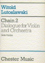 Chain 2 for violin and orchestra - Solo Violin laflutedepan.com
