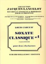 Sonate classique n° 1 Louis Cahuzac Partition laflutedepan.com