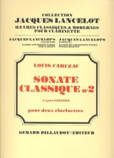 Sonate classique n° 2 Louis Cahuzac Partition laflutedepan.com