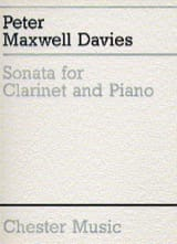 Sonata for clarinet and piano Davies Peter Maxwell laflutedepan.com