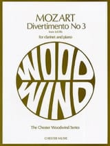 MOZART - Divertimento n° 3 KV 439b - Clarinette and piano - Partition - di-arezzo.fr