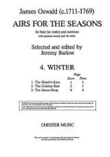 James Oswald - Airs for the seasons (4. Winter) - Partition - di-arezzo.fr